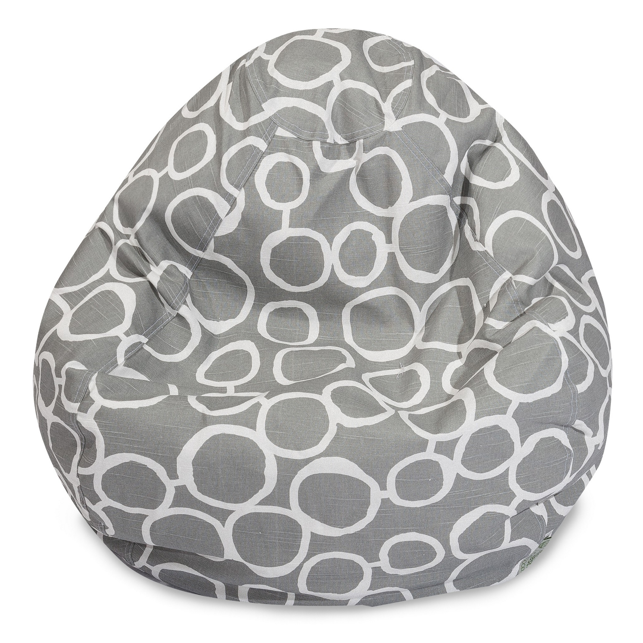 Majestic Home Goods Indoor Gray Fusion Classic Bean Bag Chair 28 in L x 28 in W x 22 in H