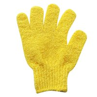 Tuscom 2Pair Bath Scrub Gloves Massage scrubber Exfoliating Scrub Shower Tool