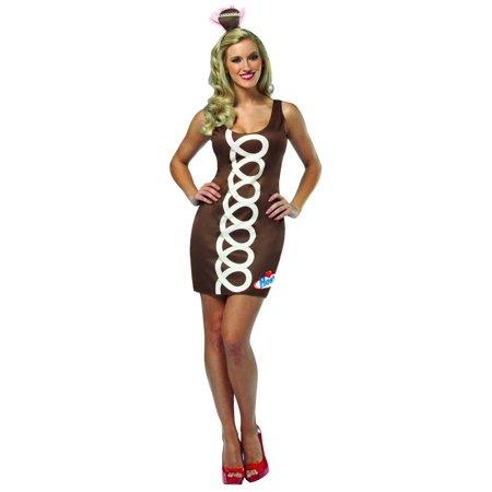 Hostess Chocolate Cupcake Tank Mini Dress Costume Adult