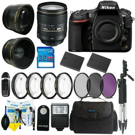 Nikon D810 DSLR Digital Camera + Nikon AF-S NIKKOR 24-120mm f/4G ED VR Lens + Pixi Advanced Bundle