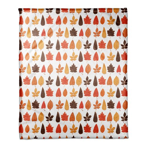 The Holiday Aisle Azriel Funky Fall Leaves Blanket