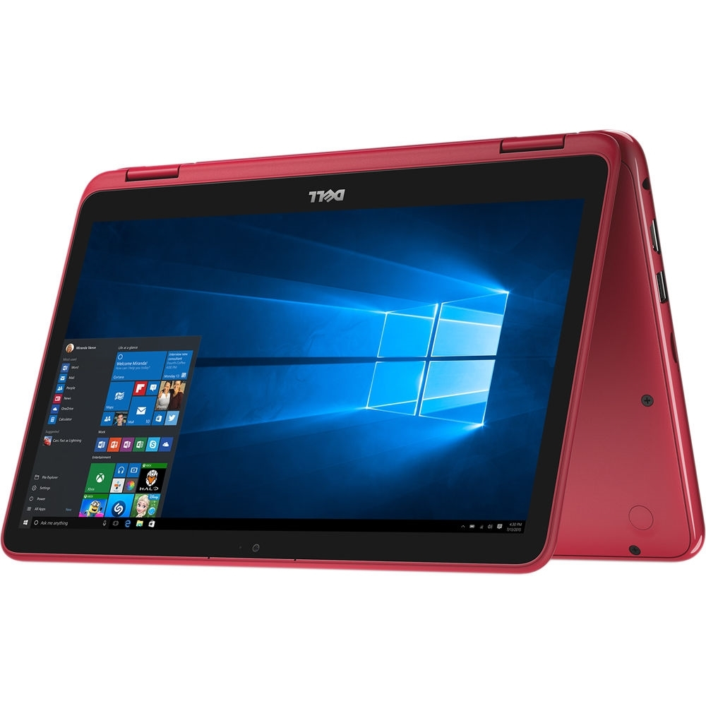 "Dell Inspiron 11-3168 Intel Pentium N3710 X4 1.6GHz 4GB 500GB 11.6"", Red (Certified Refurbished)"