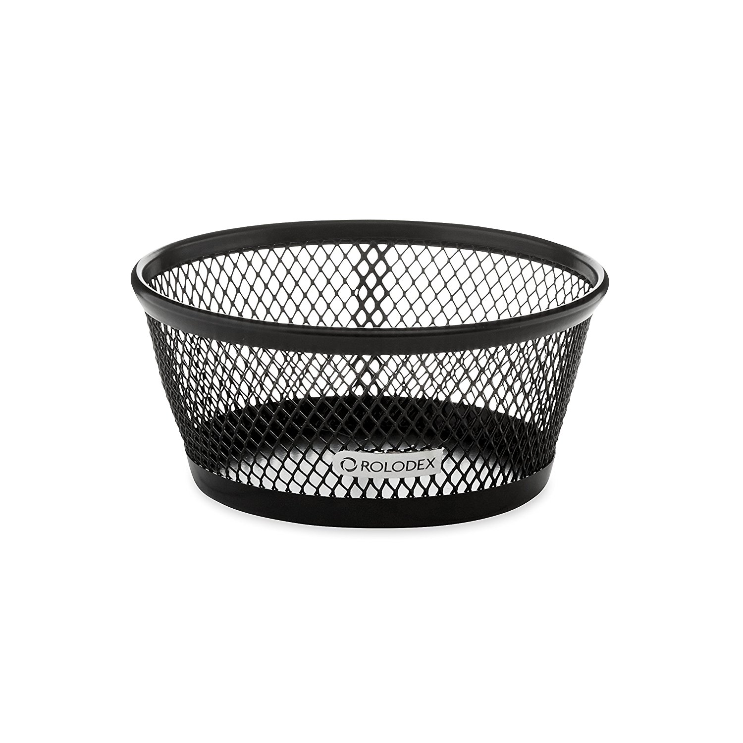 Mesh Collection Jumbo Paper Clip Holder, Black (62562), Round holder has 50% greater capacity than standard clip dishes. By Rolodex