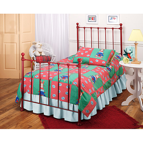 Hillsdale Molly Twin Bed with Bed Frame, Red