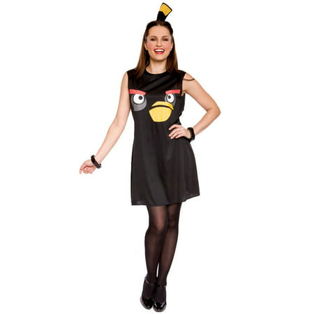 Angry Birds Sassy Black Bird Adult Costume (M) (Bird Costume For Adults)