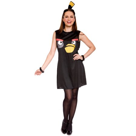 Angry Birds Sassy Black Bird Adult Costume (M)
