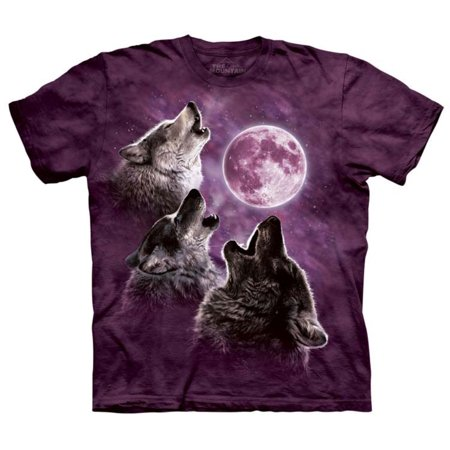 The Mountain Purple 100  Cotton Three Wolf Moon Novelty T Shirt