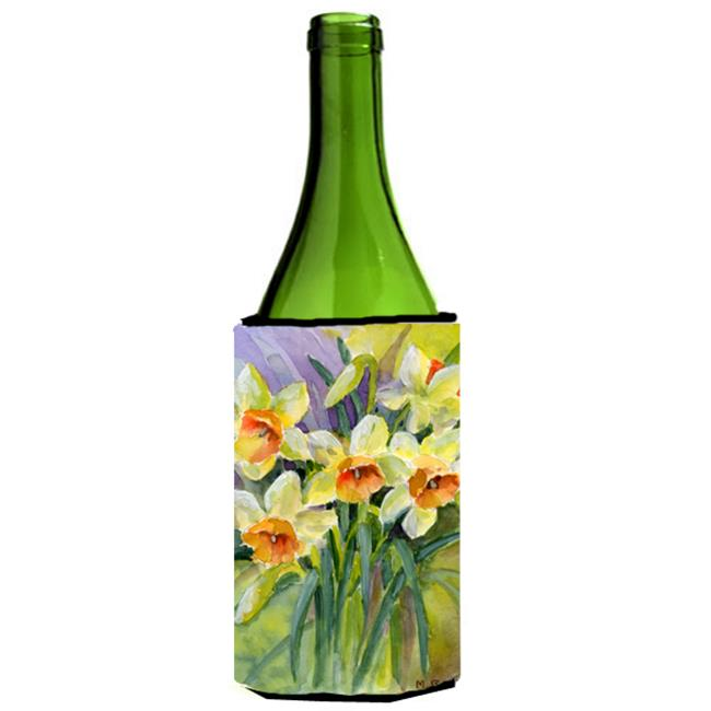 Daffodils by Maureen Bonfield Wine Bottle Can cooler Hugger