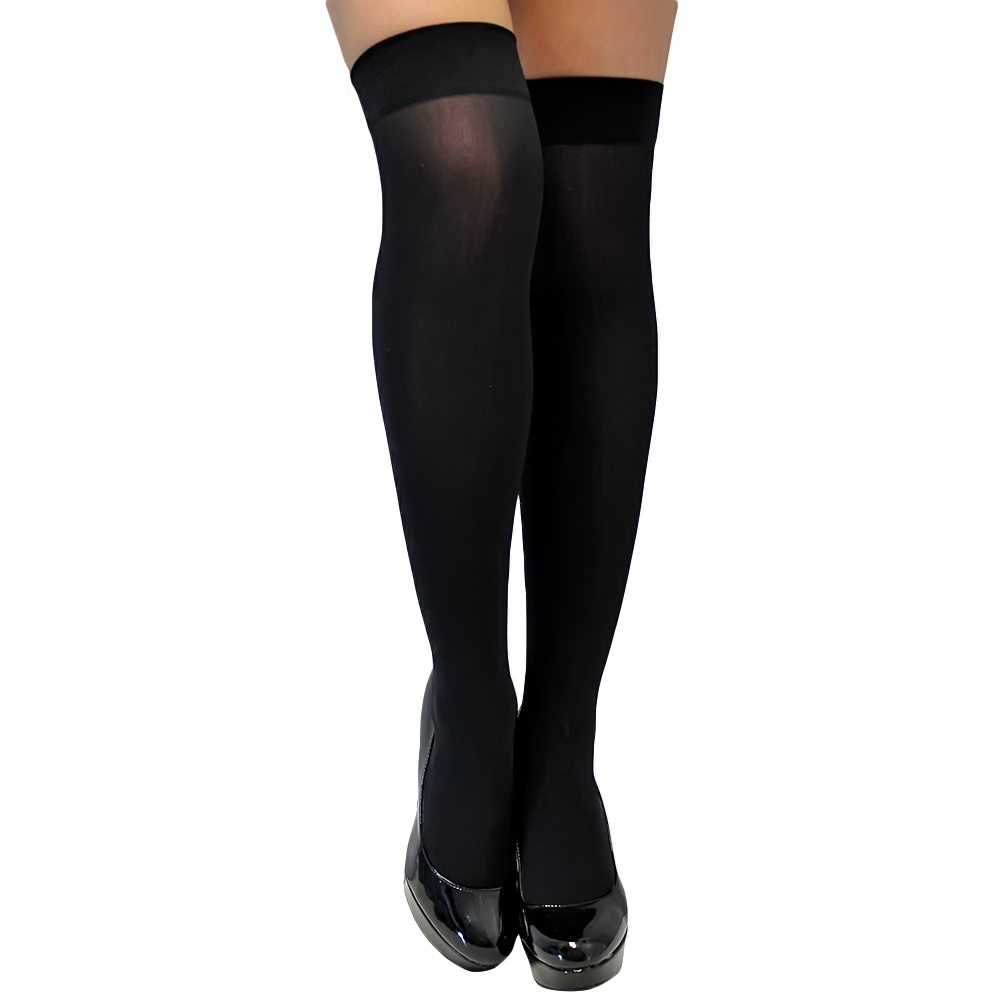 Luxury Divas Semi Opaque Thigh High Stockings