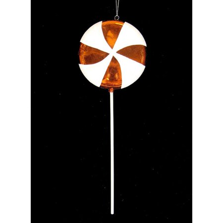 - Large Candy Fantasy Orange Dreamsicle Lollipop Christmas Ornament Decoration 22