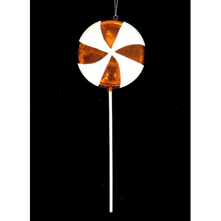 Huge Candy Fantasy Orange Dreamsicle Lollipop Christmas Ornament Decoration 40