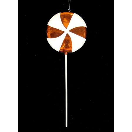 Large Candy Fantasy Orange Dreamsicle Lollipop Christmas Ornament Decoration 17