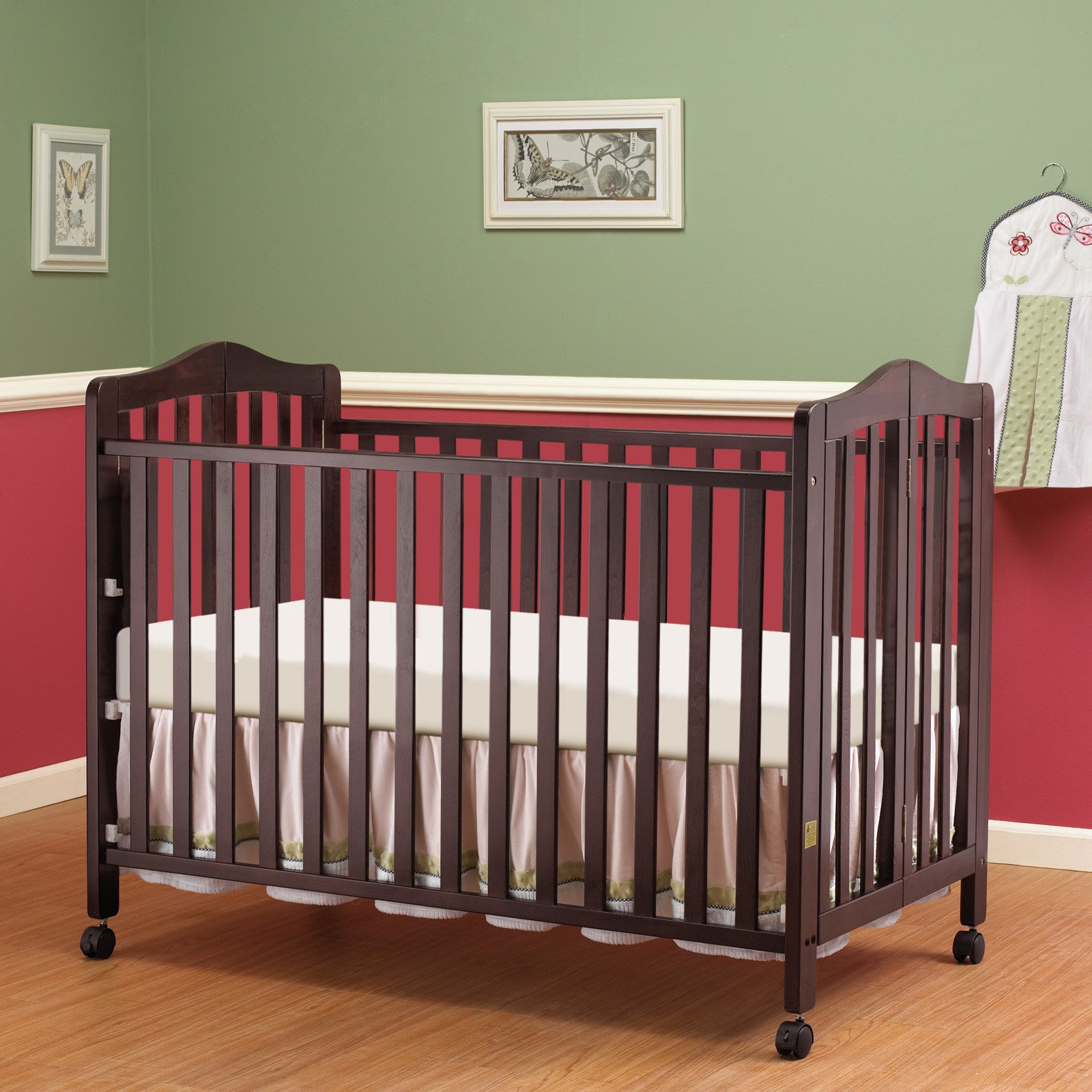 Orbelle Lisa Full Size Folding Crib - Espresso