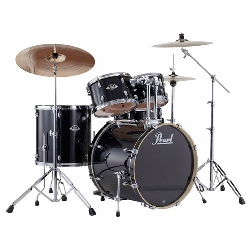 Pearl Export 5-Piece Drumset w/ Hardware - Jet Black