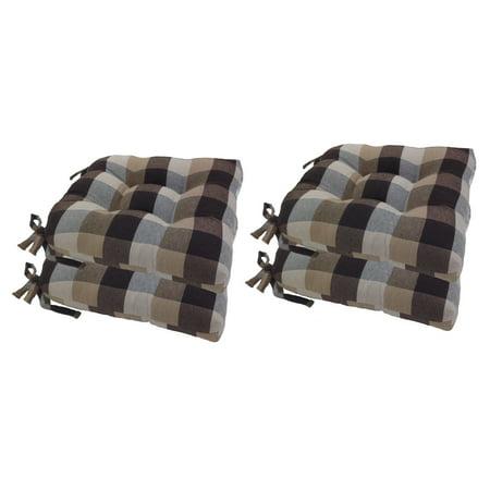 Arlee 16 X 16 In Buffalo Check Woven Plaid Chair Pad
