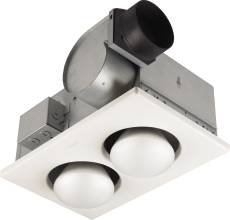 Broan Heater And Fan Two Bulb 70 Cfm