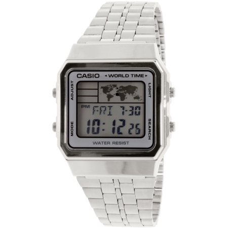Casio Men's Vintage A500WA-7 Silver Metal Quartz Fashion Watch Mens Infantry Vintage Watch