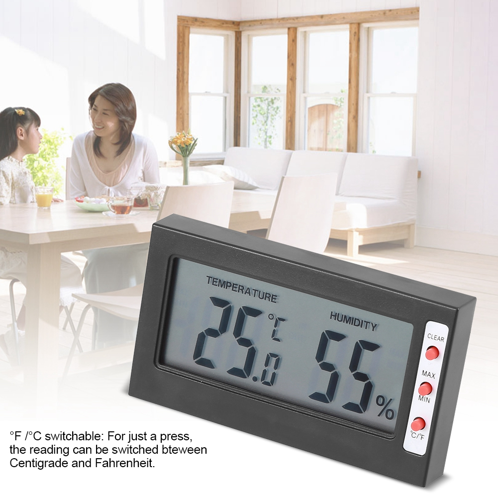 Dilwe Digital Therometer Hygrometer Temperature Humidity Meter Large LCD Display Max Min... by