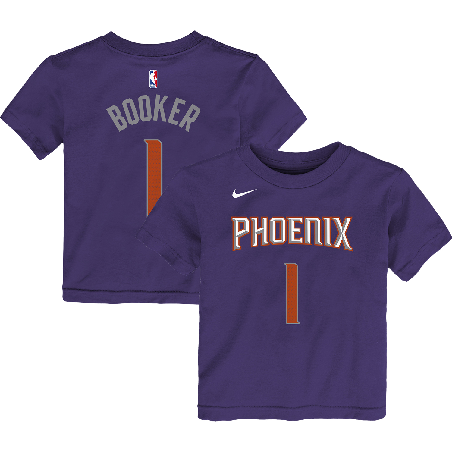 Devin Booker Phoenix Suns Nike Preschool Name & Number T-Shirt - Purple