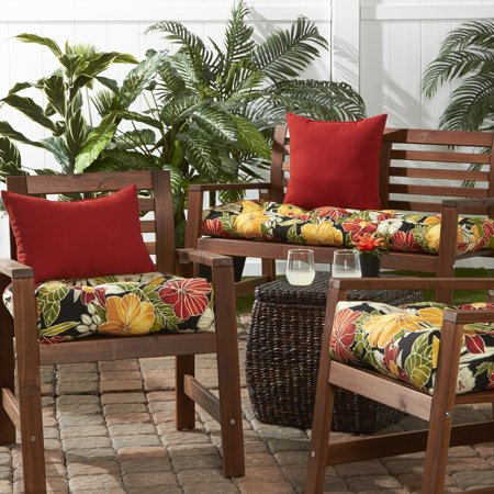 Greendale Home Fashions Aloha Black Outdoor Cushion Collection