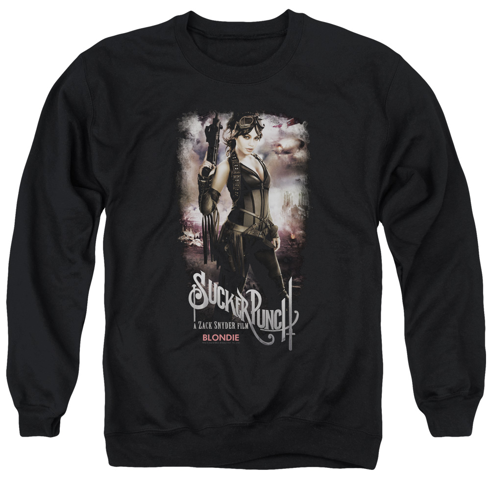 Sucker Punch Blondie Poster Mens Crewneck Sweatshirt