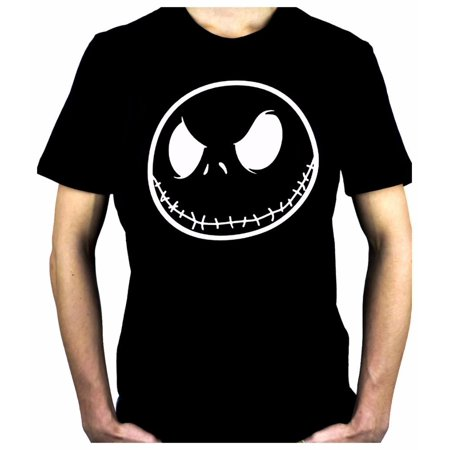 Negative Jack Skellington Face Men's T-Shirt Nightmare Before Christmas - Nightmare Before Christmas Clothing