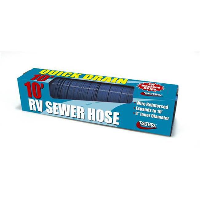 D040045 10 Ft. Quick Drain Sewer Hose, Blue