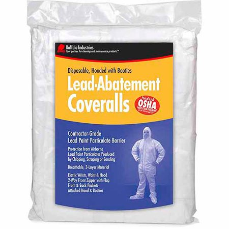 - Buffalo Industries 68441 Large Disposable Lead Abatement Coveralls