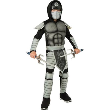 Stealth Ninja Samurai Warrior Boys Halloween Party Childs Costume - Buy Ninja Costume