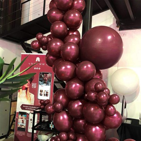 PartyWoo Burgundy Balloons 50 pcs Balloon Pack 12'' Matte Burgundy Balloons Wine Red Balloons, Matte Balloons for Burgundy Party Decorations](Net For Balloons)