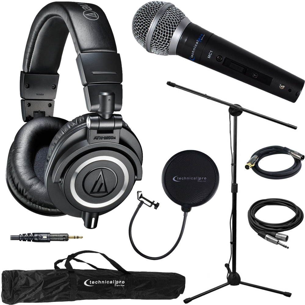 Audio-Technica ATH-M50X Professional Studio Headphones (B...