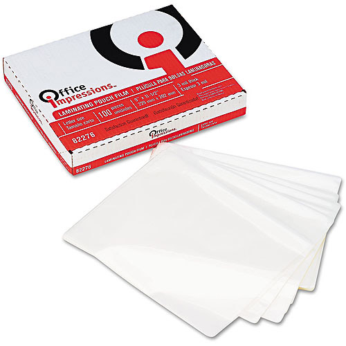 Office Impressions Clear Laminating Pouches, 100-Pack