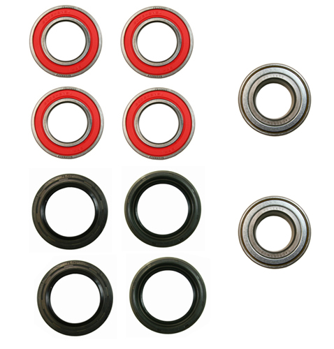 Both Yamaha YFM 450 Grizzly IRS Front Wheel Bearing Seal Kit 2007-2014