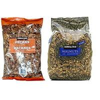 Pecan and Walnuts Bundle - Includes  Pecan Halves (2.0 LB) and Walnuts (3 LB)
