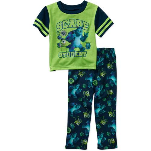 Disney Baby Boys' Monster Inc 2 Piece Short Sleeve Pajama Set