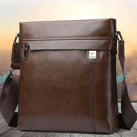 Men Genuine Shoulder Bags Leather Cowhide Vintage Office Bag Travel Shoulder Handbag Christmas Gift