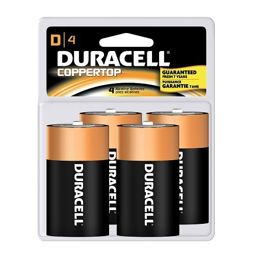 "Duracell MN1300R4Z17 mn1300r4z17- Duracell Coppertop ""d"" 4-pk</b>"