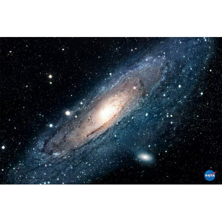 Andromeda Galaxy Poster Lights Stars Outer Space Colors Sky New 24X36 - Outer Space Classroom Decorations