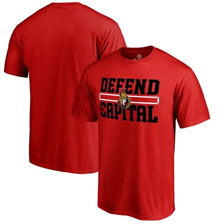 Ottawa Senators Fanatics Branded Hometown Collection Defend T-Shirt - Red