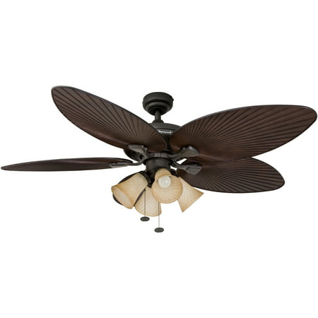 52 Quot Honeywell Palm Island Bronze Tropical Ceiling Fan