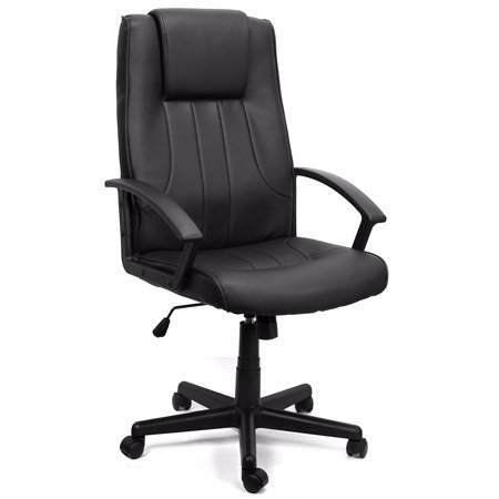 executive office chair leather hydraulic swivel lift black walmart