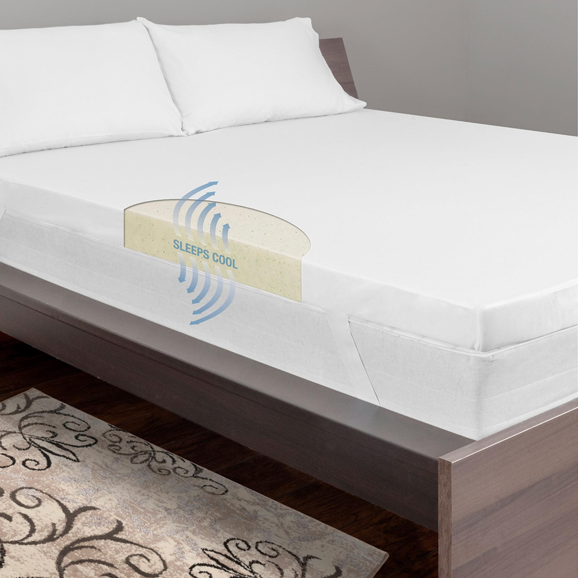 "Dream Serenity 3"" Cool Breeze Memory Support Mattress Topper - Walmart.com"