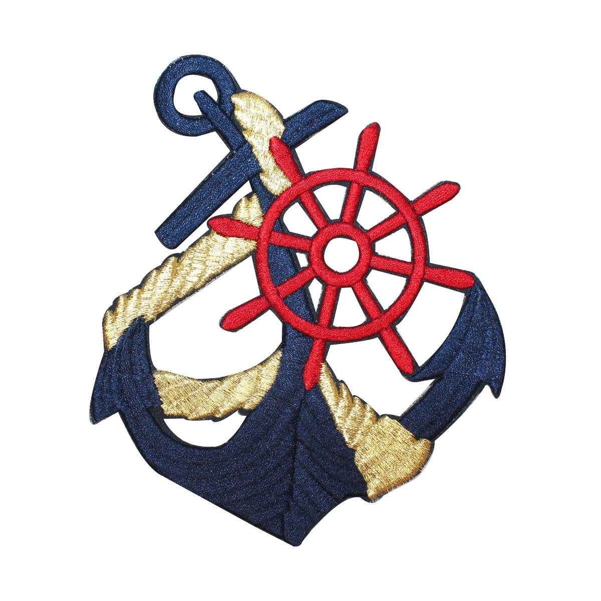 ID 2649 Nautical Anchor And Rope Patch Boat Ship Embroidered Iron On Applique