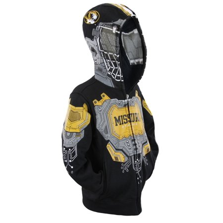 NCAA College Youth Boys Missouri Basketball Full Zip Masked Sweatshirt - Ncaa College Sweatshirts
