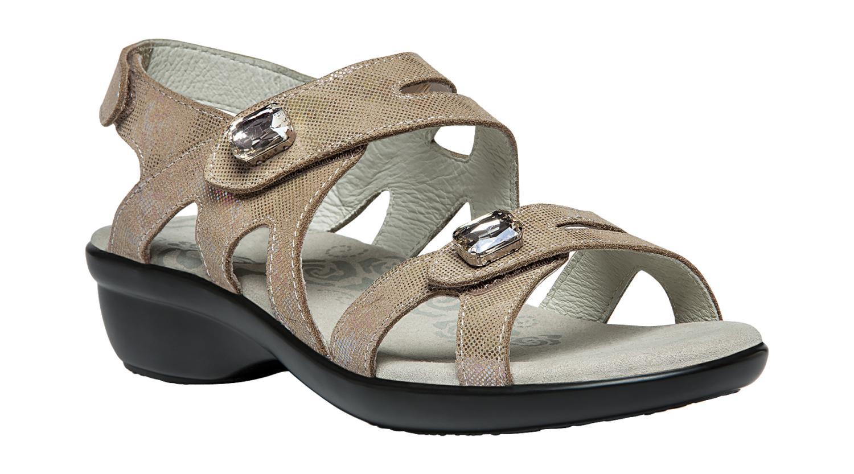 Propet Cheryl Women's Adjustable Comfort Sandals Widths Champagne Foil by