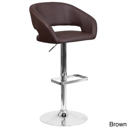 Awesome Porch Den Stonehurst Eldridge Chrome Base Adjustable Height Bar Stool Machost Co Dining Chair Design Ideas Machostcouk