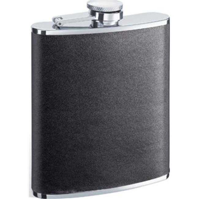 Ano Black Leather Stainless Steel 6oz Hip Flask Walmart Canada