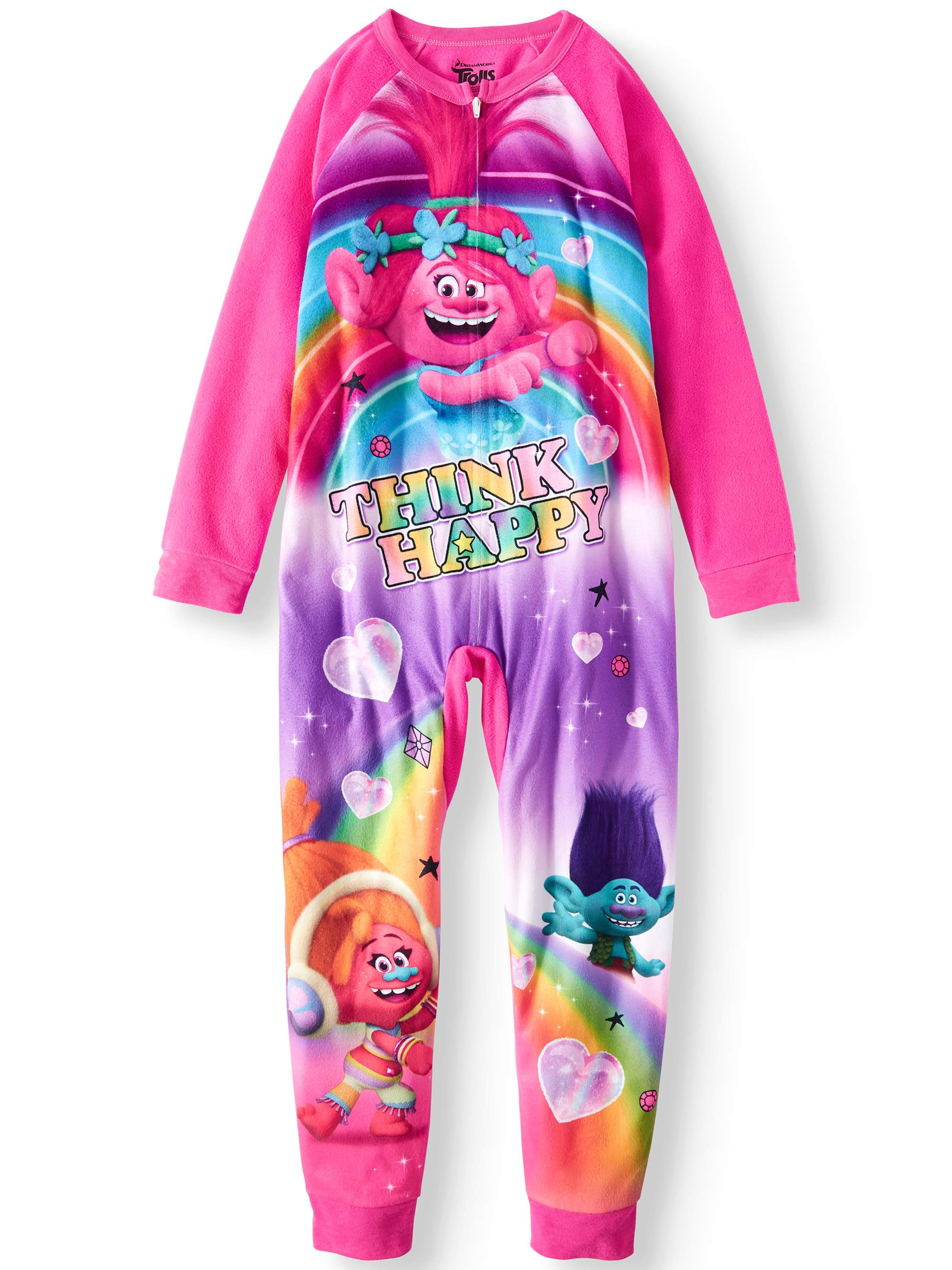 Girls  Trolls Onesie Pajama Sleeper (Little Girl   Big Girl ... c81f24cd3