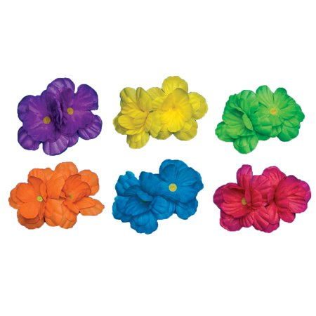 Neon Hair Clips Adult Halloween Accessory