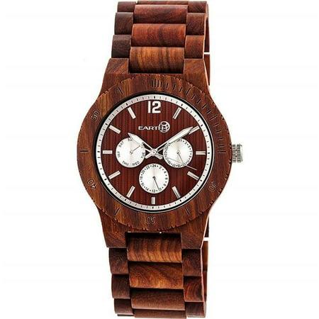 Earth Wood ETHEW5303 Bonsai Mens Bracelet Watch with Day & Date, Red - image 1 de 1
